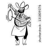 chuck wagon cook   retro clip...   Shutterstock .eps vector #131809376