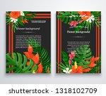 vector exotic flower background ... | Shutterstock .eps vector #1318102709