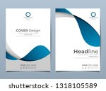 blue corporate identity cover...   Shutterstock .eps vector #1318105589