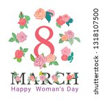 8 march. happy mother's day. ... | Shutterstock .eps vector #1318107500