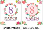 8 march. happy mother's day. ... | Shutterstock .eps vector #1318107503