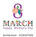 8 march. happy mother's day. ... | Shutterstock .eps vector #1318107506