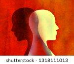 bipolar disorder mind mental... | Shutterstock . vector #1318111013
