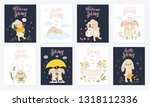vector poster collection with... | Shutterstock .eps vector #1318112336