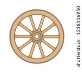 Wooden Cart Or Wagon Wheel ...