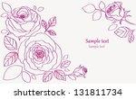 roses decorative | Shutterstock .eps vector #131811734