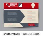 landscape wide flyer template.... | Shutterstock .eps vector #1318118306