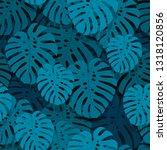 monstera seamless pattern....   Shutterstock .eps vector #1318120856