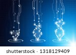 abstract background technology... | Shutterstock .eps vector #1318129409