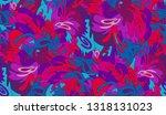 whimsical ethnic seamless...   Shutterstock .eps vector #1318131023