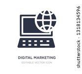 digital marketing icon on white ... | Shutterstock .eps vector #1318134596