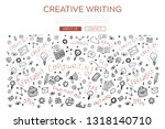 vector hand drawn copywriter... | Shutterstock .eps vector #1318140710
