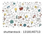 vector hand drawn copywriter... | Shutterstock .eps vector #1318140713