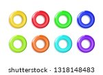 set glossy yellow plastic toys... | Shutterstock .eps vector #1318148483