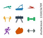 athletic icons. trendy 9... | Shutterstock .eps vector #1318156709