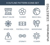 pattern icons. trendy 9 pattern ... | Shutterstock .eps vector #1318157933