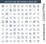 100 network icons. trendy... | Shutterstock .eps vector #1318157996