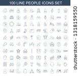 100 people icons. trendy people ... | Shutterstock .eps vector #1318159550