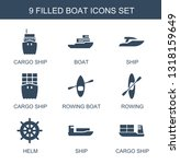 9 boat icons. trendy boat icons ... | Shutterstock .eps vector #1318159649