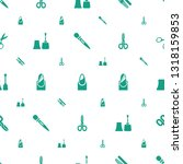 manicure icons pattern seamless ... | Shutterstock .eps vector #1318159853