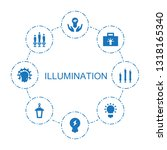 illumination icons. trendy 8... | Shutterstock .eps vector #1318165340