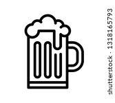 beer mug vector  feast of saint ... | Shutterstock .eps vector #1318165793