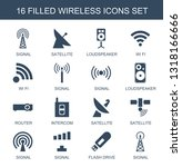 wireless icons. trendy 16... | Shutterstock .eps vector #1318166666