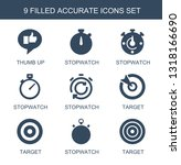 accurate icons. trendy 9... | Shutterstock .eps vector #1318166690