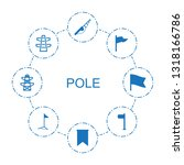 pole icons. trendy 8 pole icons.... | Shutterstock .eps vector #1318166786