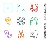 9 luck icons. trendy luck icons ... | Shutterstock .eps vector #1318168223