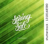 spring sale special offer card... | Shutterstock .eps vector #1318168580