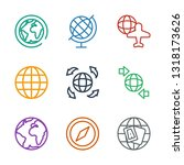geography icons. trendy 9... | Shutterstock .eps vector #1318173626