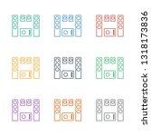 loud speaker set icon white... | Shutterstock .eps vector #1318173836