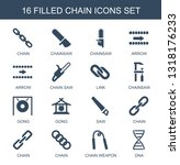 chain icons. trendy 16 chain... | Shutterstock .eps vector #1318176233
