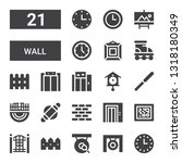 wall icon set. collection of 21 ... | Shutterstock .eps vector #1318180349