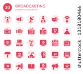 broadcasting icon set.... | Shutterstock .eps vector #1318180466