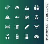 gourmet icon set. collection of ... | Shutterstock .eps vector #1318182713
