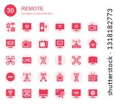 remote icon set. collection of... | Shutterstock .eps vector #1318182773