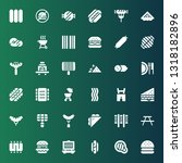 sausage icon set. collection of ... | Shutterstock .eps vector #1318182896