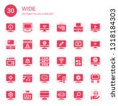 wide icon set. collection of 30 ... | Shutterstock .eps vector #1318184303