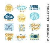bundle of spring lettering or... | Shutterstock . vector #1318184813