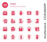 pint icon set. collection of 20 ...   Shutterstock .eps vector #1318186049