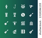 bass icon set. collection of 16 ... | Shutterstock .eps vector #1318186133
