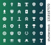honor icon set. collection of... | Shutterstock .eps vector #1318187570