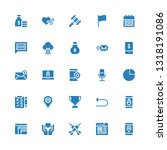 ui icon set. collection of 25... | Shutterstock .eps vector #1318191086