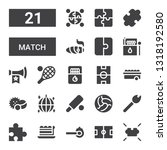 match icon set. collection of... | Shutterstock .eps vector #1318192580