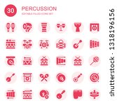 percussion icon set. collection ... | Shutterstock .eps vector #1318196156