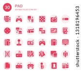 pad icon set. collection of 30... | Shutterstock .eps vector #1318196453