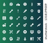 workshop icon set. collection... | Shutterstock .eps vector #1318199009