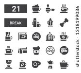 break icon set. collection of... | Shutterstock .eps vector #1318199036